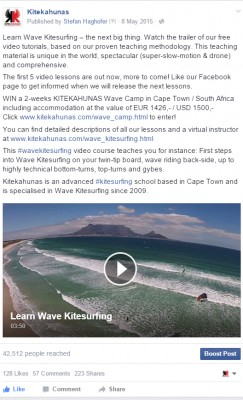 learn wave kitesurfing video production facebook